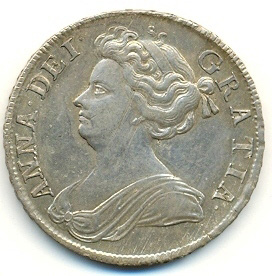 Half crown of Anne