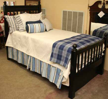 Black Painted Bed