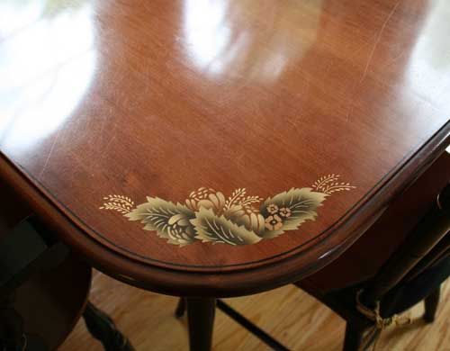 The Dining Table With 2 Leaves And 6 Chairs Is An Excellent Bargain At  $1,999. We Also Are Fortunate To Have A Matching Corner Cabinet In Our  Inventory ...