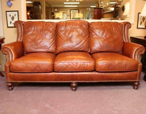 Whittemore and  Sherrill Leather Sofa