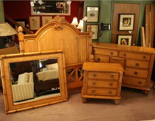How About This Tommy Bahama Lexington Furniture Set? It Offers A Queen Bed,  Triple Dresser, Mirror And A Nightstand. This Is Item Number 2296 11 In Our  ...