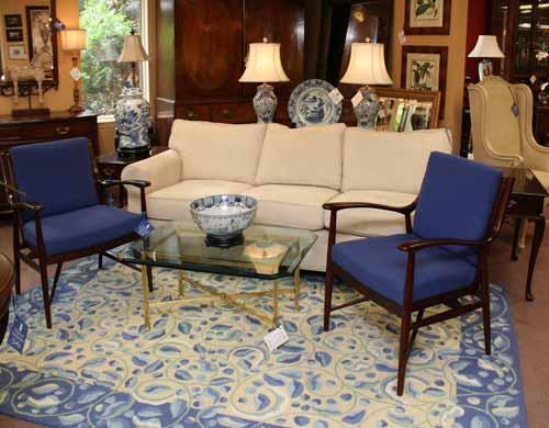 Elegant Blue Living  Room