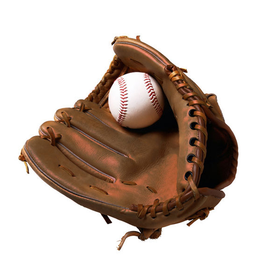 base ball glove brown color l 654
