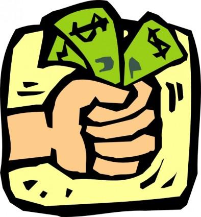 fist full of money clip art 22967