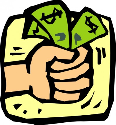 fist full of money clip art 22967