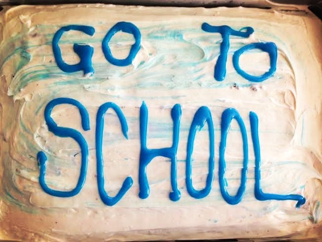 go to school cake